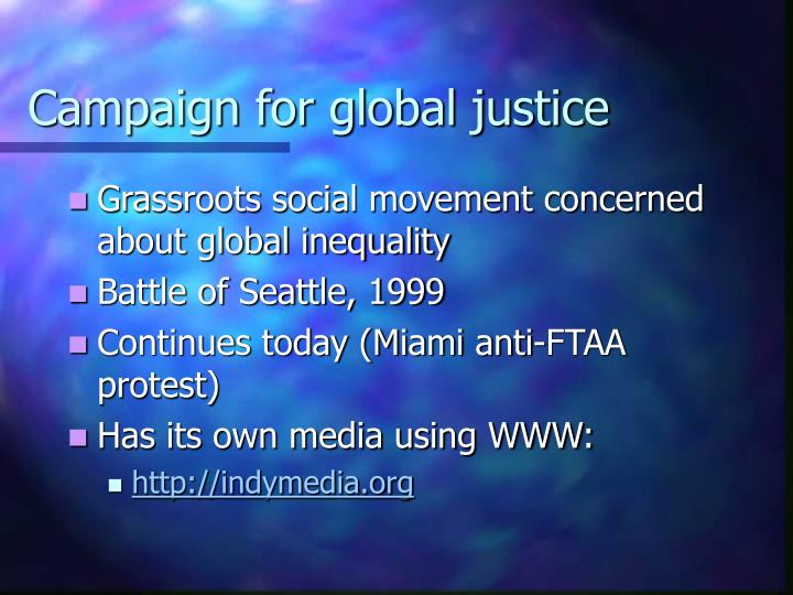 Campaign for global justice