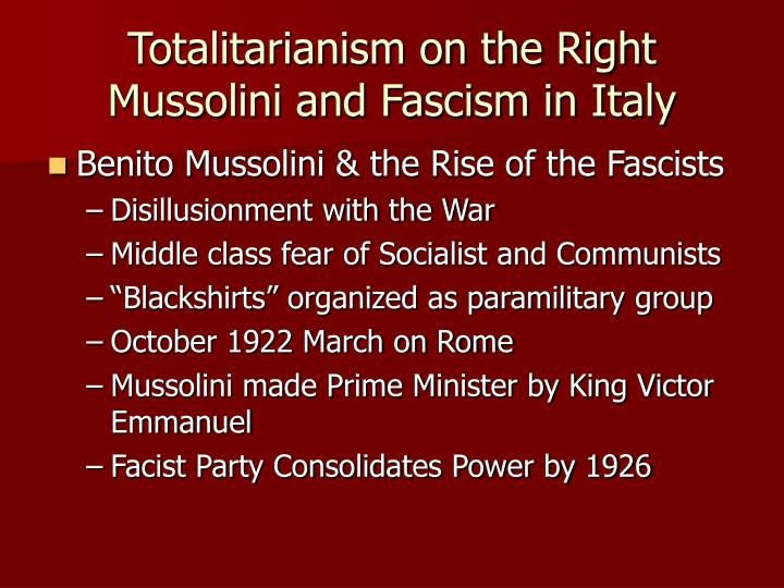 Totalitarianism on the Right