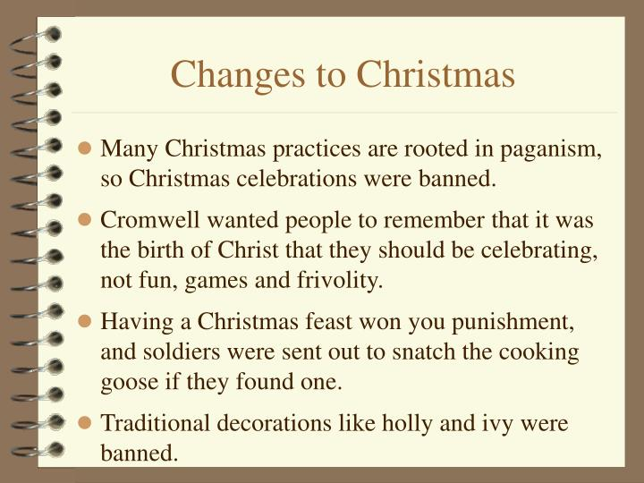Changes to Christmas