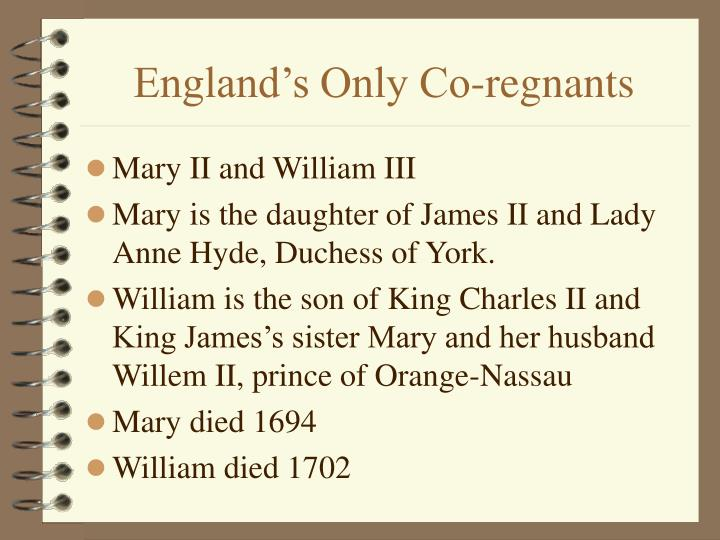 England's Only Co-regnants