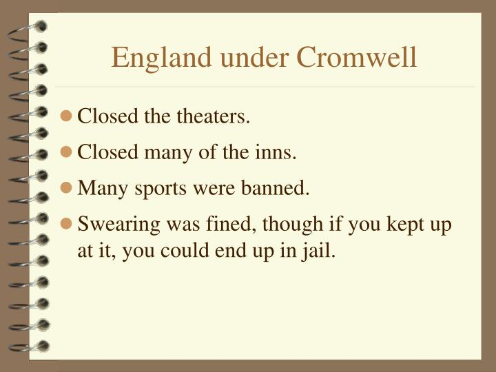 England under Cromwell