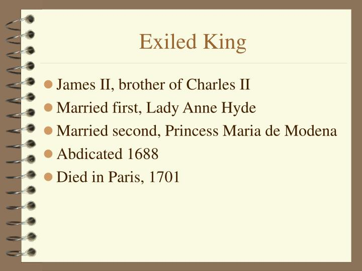 Exiled King