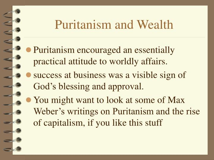 Puritanism and Wealth