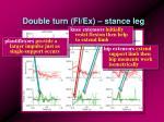 double turn fl ex stance leg