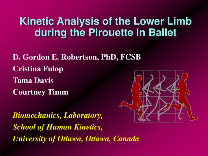 kinetic analysis of the lower limb during the pirouette in ballet n.