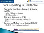 data reporting in healthcare1