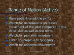 range of motion active