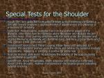 special tests for the shoulder1