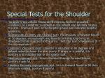 special tests for the shoulder2