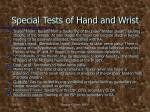 special tests of hand and wrist1