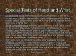 special tests of hand and wrist2