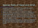 special tests of hand and wrist3