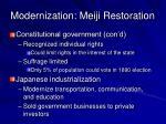 modernization meiji restoration1
