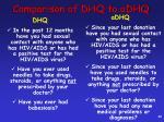 comparison of dhq to adhq1