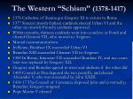 the western schism 1378 1417