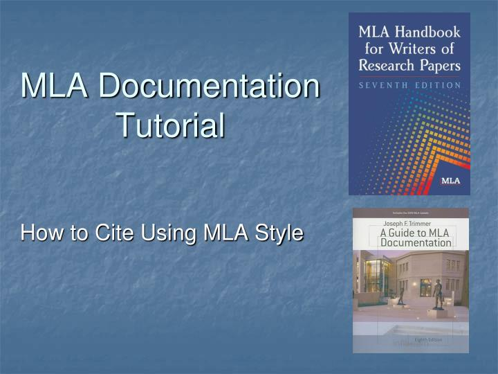 mla documentation tutorial n.