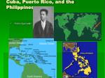 cuba puerto rico and the philippines