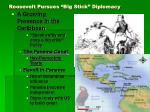 roosevelt pursues big stick diplomacy