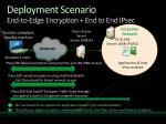 deployment scenario end to edge encryption end to end ipsec