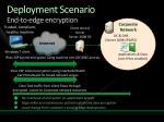 deployment scenario end to edge encryption