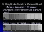 b height air burst vs ground burst