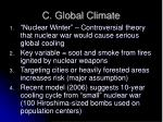 c global climate