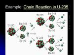 example chain reaction in u 235