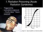 f radiation poisoning acute radiation syndrome
