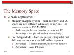 the memory space