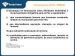 informa es rfb dimob