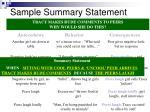 sample summary statement1