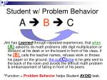 student w problem behavior