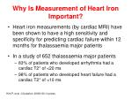 why is measurement of heart iron important