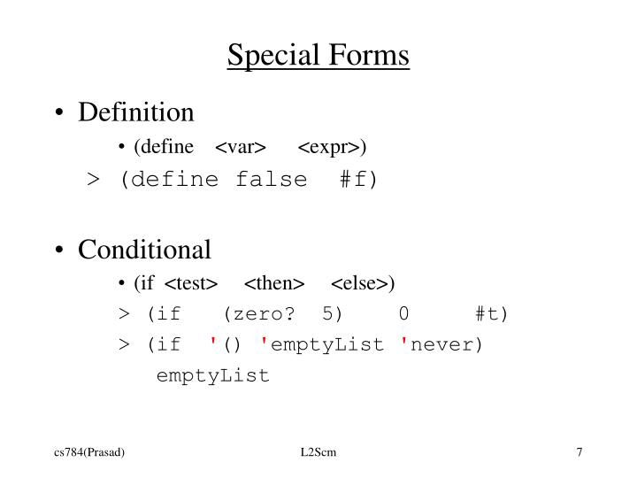 Special Forms