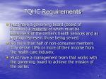 fqhc requirements