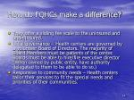 how do fqhcs make a difference1