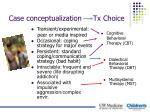 case conceptualization tx choice