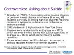 controversies asking about suicide