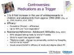 controversies medications as a trigger
