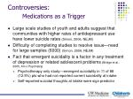 controversies medications as a trigger1
