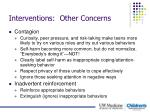 interventions other concerns