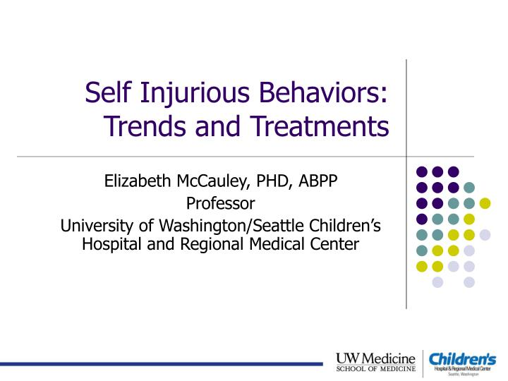 self injurious behaviors trends and treatments n.