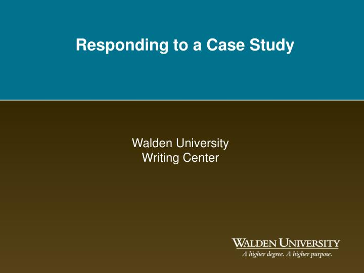 responding to a case study n.