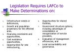 legislation requires lafco to make determinations on