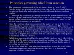 principles governing relief from sanction