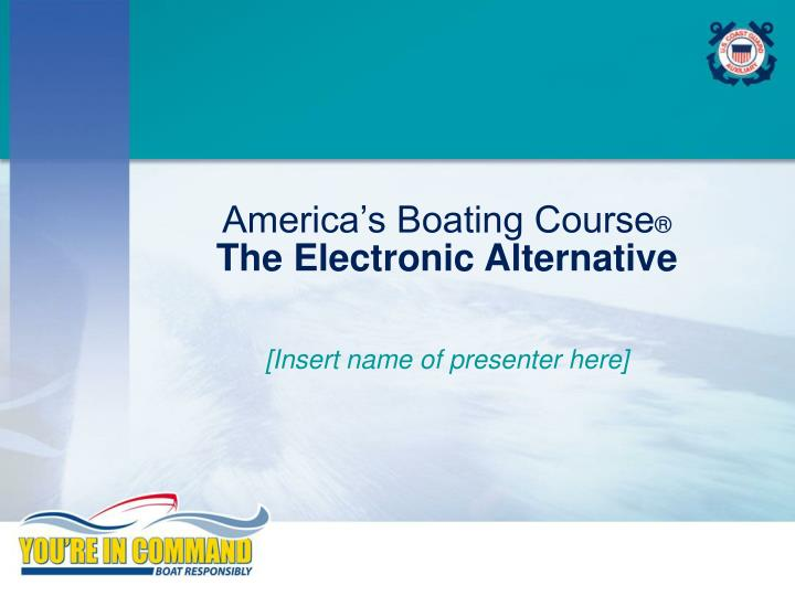 america s boating course the electronic alternative n.