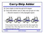 carry skip adder