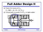 full adder design ii