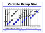 variable group size