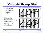 variable group size1